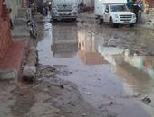 شوارع الفيوم غارقة فى مياه الصرف الصحى