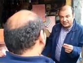 الدكتور خالد حنفى وزير التموين خلال تفقده الأسواق بالغربية – من الفيديو