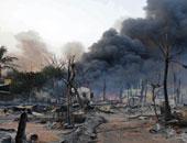 آثار التدمير فى ميانمار