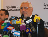 عبد المنعم ابو الفتوح رئيس حزب مصر القوية
