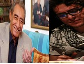 الشاعر عبد الرحمن الأبنودى والشاعر وائل فتحى