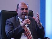 خالد حنفى وزير التموين والتجارة الداخلية أثناء المؤتمر