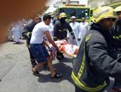 جانب من الحادث الإرهابى بالقديح