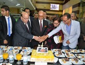 جانب من الإحتفال بعيد ميلاد محمد سلماوى