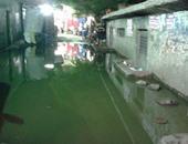 غرق شوارع شبرا الخيمة فى مياه الصرف الصحى