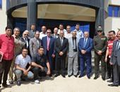 مصطفى بكرى واللواء السيد نصر يتفقدان جامعة كفر الشيخ