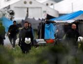 مخيم لاجئين فى اليونان