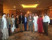 جانب من حفل لجنة الشئون الخارجية بالبرلمان