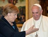 البابا فرنسيس مع ميركل