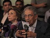 عمرو موسى رئيس لجنة الخمسين المنتهى عملها