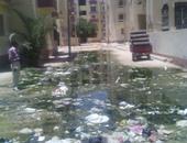 غرق مساكن دمو فى مياه الصرف
