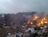 جانب من حرق القمامة
