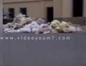 انتشار القمامة أمام مستشفى بالإسكندرية