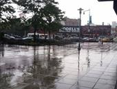 جانب من سقوط الأمطار