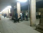 جانب من انفجار محدث صوت على رصيف محطة أسوان