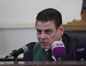 المستشار محمد شيرين فهمى أثناء محاكمة المتهمين بقضية مذبحة كرداسة ـ أرشيفية