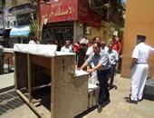 جانب من حملة إزالة الإشغالات بأحياء القاهرة