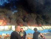 اشتعال النيران بخيمة المعرض