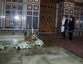 إمبراطورة إيران السابقة وجيهان السادات تحييان ذكرى وفاة شاه إيران