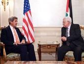 وزير الخارجية الأمريكي والرئيس الفلسطيني أبو مازن