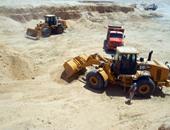 جانب من أعمال حفر قناة السويس الجديدة