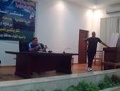 عصام عبد الفتاح يلقى كلمة فى ختام المعسكر