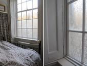نافذة مغطاة بالدانتيل