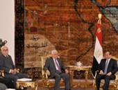 الرئيس السيسى ومحمود عباس
