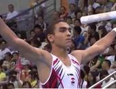محمد إلهامى لاعب منتخب مصر للجمباز