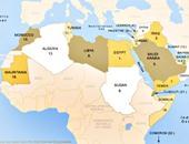 خريطة الوطن العربى أرشيفية