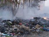 حرق القمامة بقرية جزيرة محمد فى الوراق