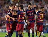 فرحة لاعبى برشلونة بالهدف