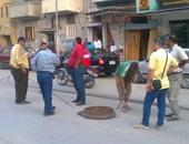 جانب من عملية إصلاح محطة مياة الإسماعيلية