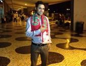 محمد إبراهيم فى مطار البرتغال