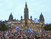 متظاهرون فى اسكتلندا - أرشيفية