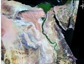 خريطة مصر متضمنة منطقة سهل كوم أمبو والجلابة