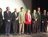 المكرمون فى المهرجان بحضور وزيرة الثقافة الأردنية لانا مامكغ ورئيس المهرجان فراس الريمونى