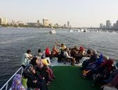 المشاركون فى زيارة حديقة المعادى خلال الرحلة النيلية