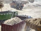 جانب من أعمال حفر مشروع قناة السويس الجديدة
