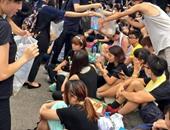 جانب من التظاهرات فى هونج كونج _ أرشيفية