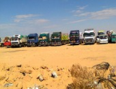 الشاحنات المصرية المحتجزة