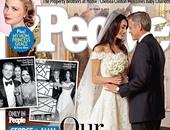 جورج كلونى وآمال علم الدين بحفل زفافهما