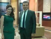 عمرو الليثى ونهال أثناء تسجيل الحلقة