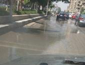 صورة من شارع مكرم عبيد غارقاً فى مياه الصرف