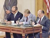 توقيع اتفاقية السلام بين مصر وإسرائيل
