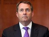 ليام فوكس وزير التجارة الدولية لبريطانيا
