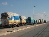 شاحنات مصرية فى ليبيا ـ أرشيفية