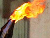 زجاجة ملوتوف مشتعلة