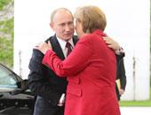 المستشارة الألمانية أنجيلا ميركل و الرئيس الروسى بوتين