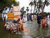 فيضان فى باكستان - أرشيفية